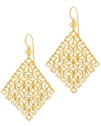 Dinny Hall | Metallic Gold Vermeil Talitha Statement Earrings | Lyst