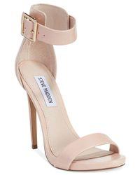 Steve Madden Pink Womens Marlenee Ankle Strap Sandals
