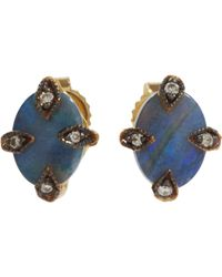 Cathy Waterman | Blue Antique Stud Earrings Size Os | Lyst