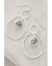 Anthropologie | Metallic Quartz Lagoon Hoops | Lyst
