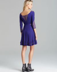 Free People - Purple Mini Dress To The Point - Lyst