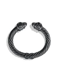 David Yurman - Gray Renaissance Bracelet with Diamonds 10mm - Lyst