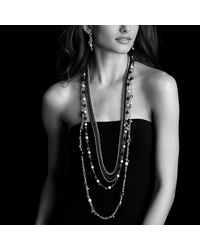 David Yurman - Metallic Bead Tassel Small Drop Earrings With Black Spinel And Pearls - Lyst