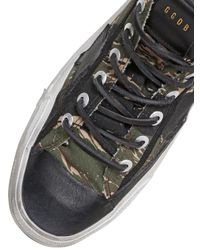 Golden Goose Deluxe Brand - Green V-star Camouflage Cotton Canvas Sneakers for Men - Lyst