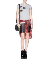 Markus Lupfer - Gray 'tribal Mini Smacker Lip' Sequin Kate T-shirt - Lyst