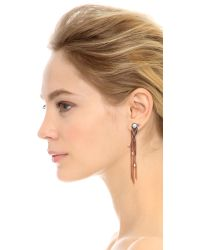Katie Rowland Pink L'eclipse Drop Earrings - Rose Gold/pearl/lavender