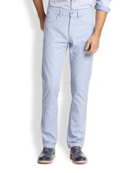 Saks Fifth Avenue | Blue Five-pocket Pastel Pants for Men | Lyst