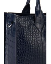 HUGO Blue 'valerie-c' | Leather Shopper With Detachable Strap