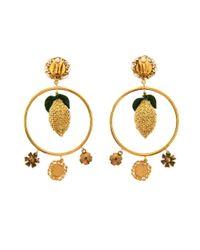 Dolce & Gabbana | Metallic Escape Clip-on Embellished Earrings | Lyst