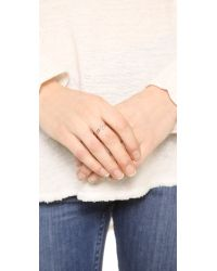 Kismet by Milka - Metallic Open Pave Ring - Gold/Clear - Lyst