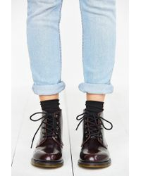 Dr. Martens - Purple Emmeline 5-eye Boot - Lyst