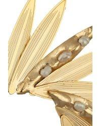 Rosantica   Metallic Gold-Dipped Pearl Ear Cuff   Lyst
