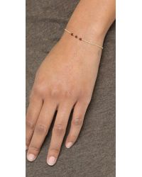 Dogeared - Red Healing Gem Garnet Bracelet - Lyst
