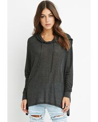Forever 21 | Gray Oversized Hooded Top | Lyst