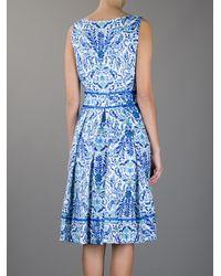 Tory Burch - Multicolor Floral Print Dress - Lyst