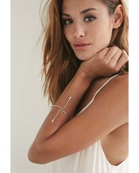 Forever 21 - Metallic Magnolia Open Bangle - Lyst