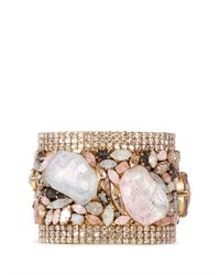 Erickson Beamon - Metallic 'marchesa' Iridescent Gemstone Cuff - Lyst