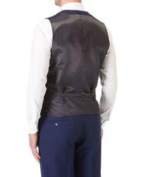 Skopes Blue Pearce Suit Waistcoat for men