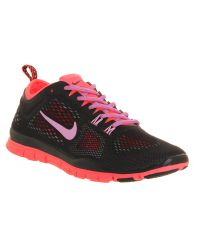 Nike | Pink Women'S Free Flyknit 4.0 Running Sneakers From Finish Line | Lyst