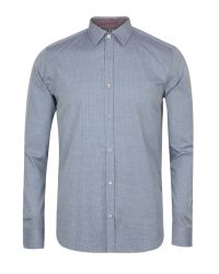 Ted Baker | Blue Targetz Circle Pring Shirt for Men | Lyst