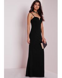 Missguided - Strappy Maxi Dress Black - Lyst