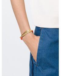 Leivan Kash | Orange Beaded Feather Bracelet | Lyst