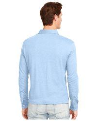 Polo Ralph Lauren Blue Long-sleeved Pima Soft-touch Shirt for men