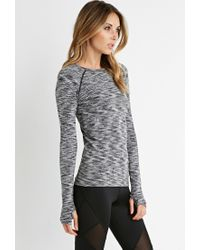 Forever 21 | Black Active Space Dye Top | Lyst