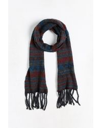 Urban Outfitters | Blue Geo Brushed Knit Scarf for Men | Lyst