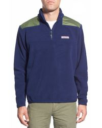 Vineyard Vines | Blue 'shep' Quarter Zip Fleece Pullover for Men | Lyst