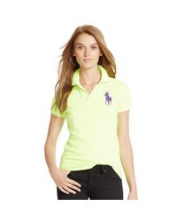 Polo Ralph Lauren - Yellow Skinny-fit Big Pony Polo Shirt - Lyst