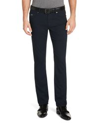 BOSS Blue Slim-fit Trousers In Cotton Blend: 'delaware2-ml-20' for men