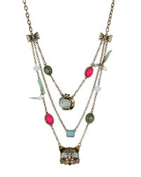 Betsey Johnson Multicolor Cat Illusion Necklace