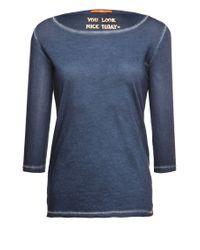 BOSS Orange - Blue Cotton T-shirt 'tasfias' - Lyst