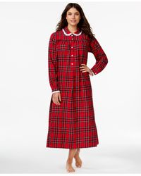 Lanz of Salzburg | Collared Flannel Nightgown | Lyst