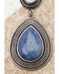 Forever 21 | Blue Faux Stone Drop Earrings | Lyst