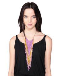 Pieces - Purple Necklace / Longcollar - Lyst