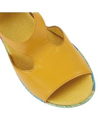 Lotus | Yellow Dandy Wedge Sandals | Lyst