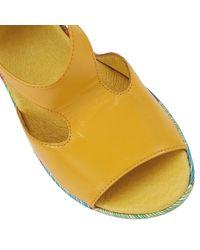 Lotus - Yellow Dandy Wedge Sandals - Lyst