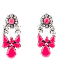 Shourouk - Pink Mia Earrings - Lyst