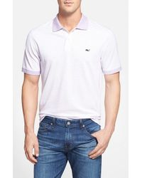 Vineyard Vines | White 'graysby' Classic Fit Stripe Pique Polo for Men | Lyst