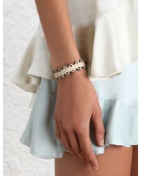 Zimmermann - White Filigree Leather Bracelet - Lyst