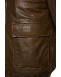 BOSS Brown Regular-fit Leather Jacket: 'gomien' for men