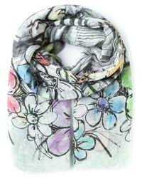 Faliero Sarti | Green Floral Sketch Print Scarf | Lyst