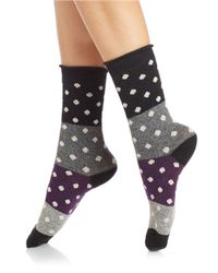 Free People | Black Polka Dot Crew Socks | Lyst