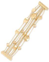 Kenneth Cole   Metallic Gold-tone Beaded Multi-row Bracelet   Lyst