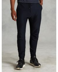 John Varvatos | Blue Drawstring Knit Pant for Men | Lyst