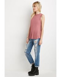 Forever 21 | Pink Tulip-back Muscle Tee | Lyst