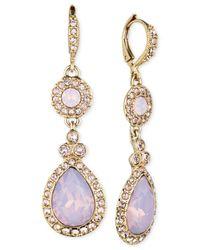 Givenchy | Metallic Gold-Tone Rosewater Opal Teardrop Earrings | Lyst