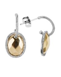 Charriol | Metallic Gold Facet 18k Yellow And White Gold 0.26ct Diamonds Dangle Earrings | Lyst